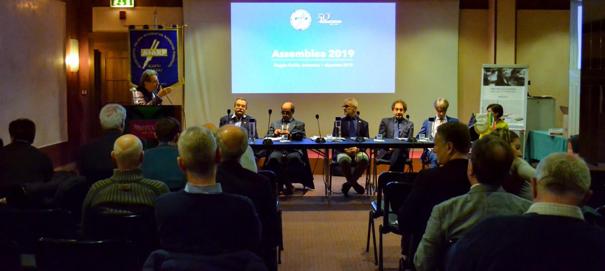 Assemblea AIARP 2019 - platea e tavolo del Direttivo