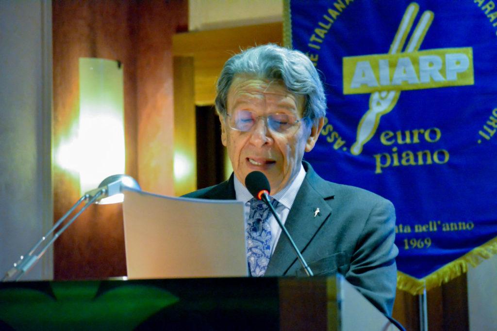Luciano Del Rio apre i lavori dell'Assemblea AIARP 2019