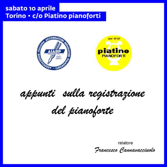 Appunti sulla registrazione del pianoforte
