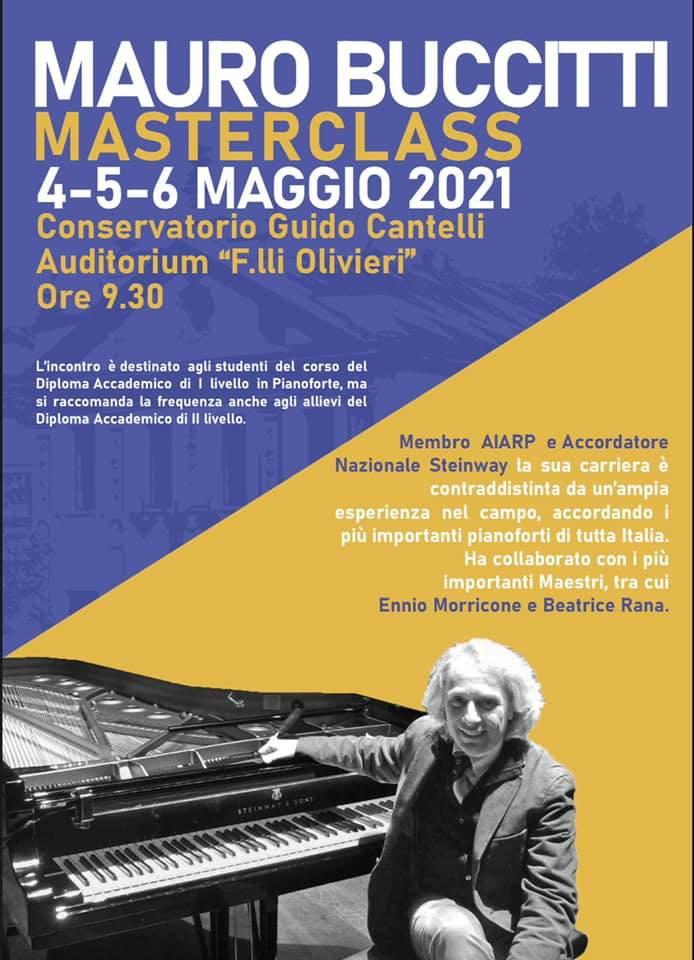 Masterclass Mauro Buccitti | Novara, 4-6 maggio 2021